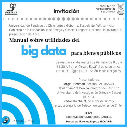 """Lanzamiento Libro """"Manual sobre utilidades del BIG DATA para bienes públicos"""""""
